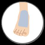 Sパーツ 足の甲