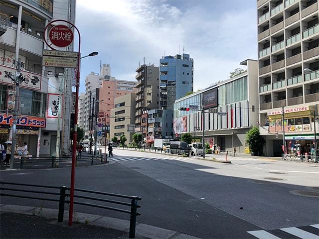 メンズ脱毛フィーゴ新宿店の行き方 東新宿駅から2