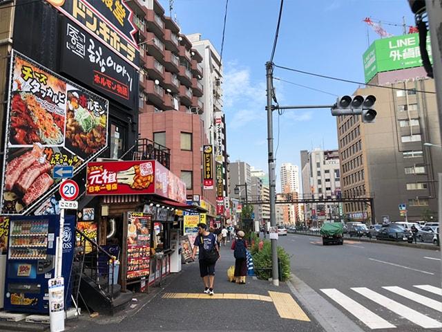 メンズ脱毛フィーゴ新宿店の行き方 新大久保駅からの行き方5