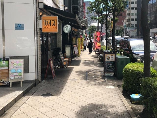 メンズ脱毛フィーゴ大阪心斎橋店 四ツ橋駅からの道順2