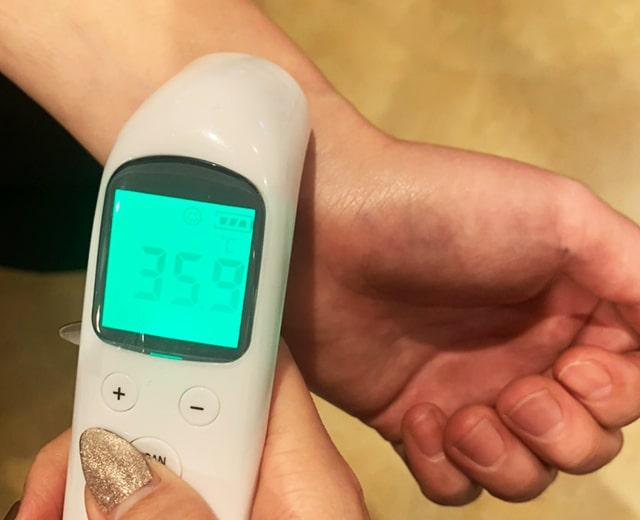 メンズ脱毛フィーゴ埼玉所沢店新型コロナウィルス感染予防対策 検温の実施
