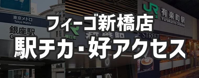 メンズ脱毛フィーゴ新橋店 駅チカ・各線からの好アクセス