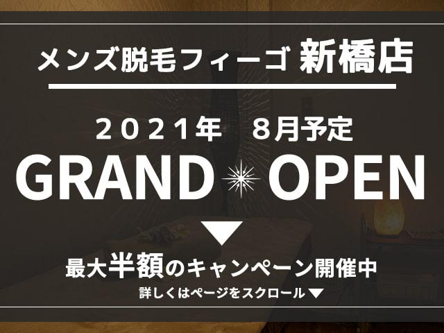 完全都度払い制メンズ脱毛figo(フィーゴ) 新橋店 8月OPEN予定